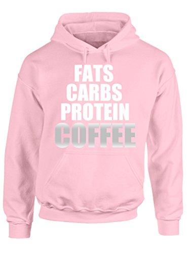 BENVESTI Sweats à Capuche Femme Fitness Fats Carbs Protein Sweatshirt Personnalisé SW.SPR8