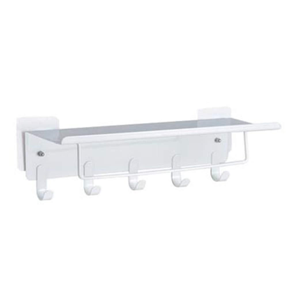 Mensola del bagno-TianranRT Nuovo Utensili da parete a parete da cucina Rack di stoccaggio a parete privo di punzoni,bianca