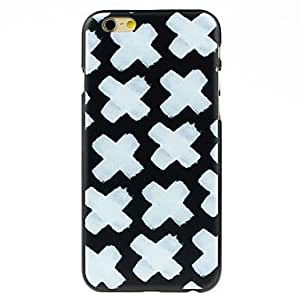 LCJ White Cross in Black Pattern Case for iPhone 6