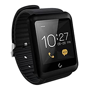Efanr® U11 Bluetooth Wrist Smart Watch Fitness Pedometer Tracker Healthy WristWatch Smartwatch Bracelet Mobile Phone Mate With Camera Touch Screen Support Sim Card for IOS Android (Black)