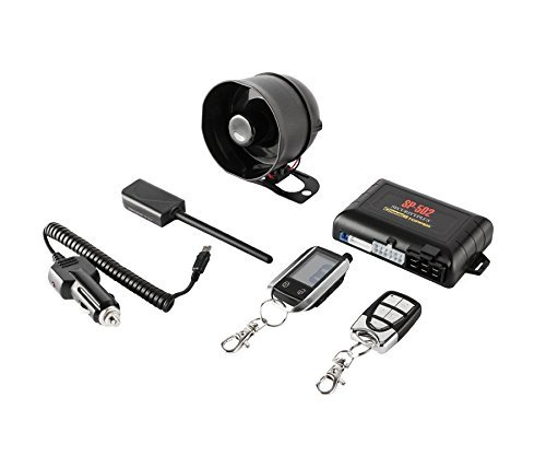Crimestopper SP-502 2-Way LCD Paging Combo Alarm, Keyless Entry and Remote Start System with Rechargeable Remote by Crime Stopper
