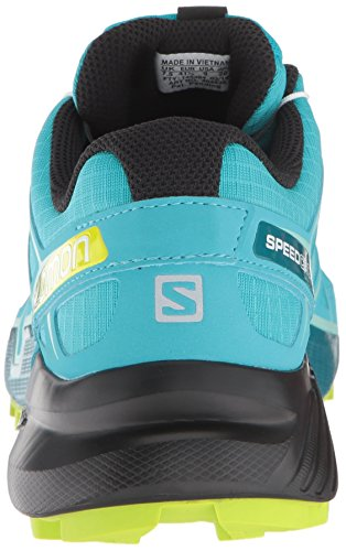 Salomon Women's Speedcross 4 W Trail Running Shoe, Bluebird/Acid Lime/Black, 5.5 B US by Salomon (Image #2)
