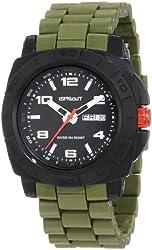 Sprout Men's ST/3801BKOL Water Resistant Olive Green Corn Resin Bracelet Water-Resistant Bio-Degradable Watch