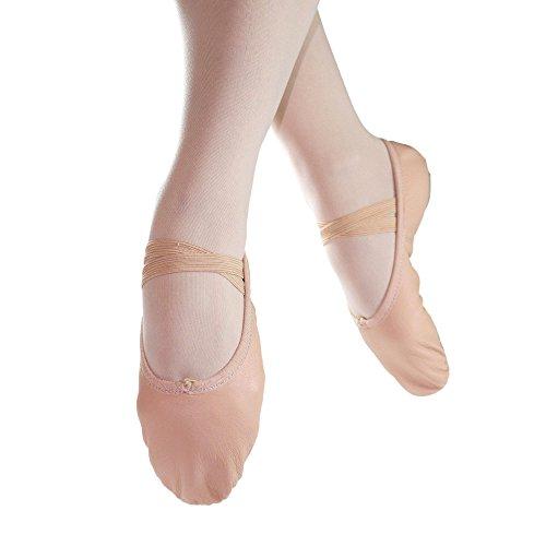 Danzcue Child Split Sole Leather Pink Ballet Slipper 12.5 M US