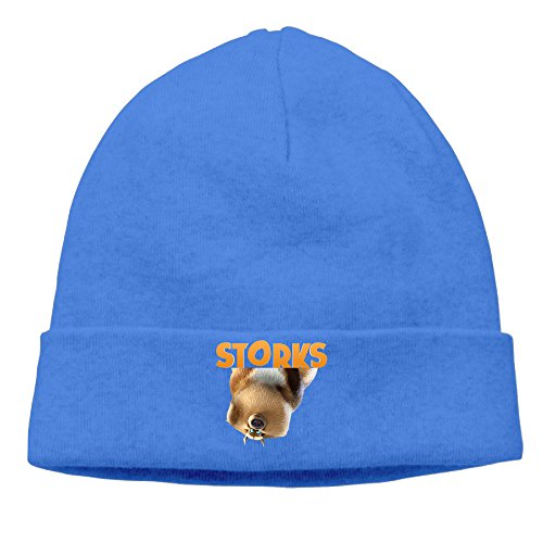 [DETO Men's&Women's Storks Patch Beanie Mountain ClimbingRoyalBlue Caps Hats] (Bull Rider Costume Toddler)