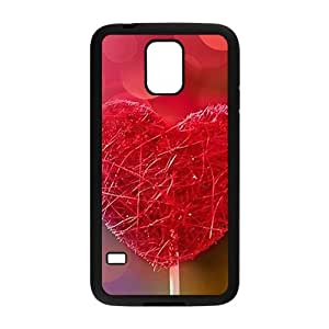 Sweet red Heart Candy personalized creative clear protective cell phone case for Samsung Galaxy S5