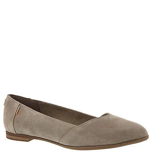 TOMS Women's Julie Desert Taupe Suede Flat Shoe (9 B US) (Shoes Suede Flat)