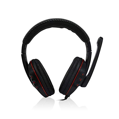 Gaming Headphone with Stereo Microphone and Volume Control New USB Wired Headset Noise-Canceling Adjustable Earphone,Ship from US Warehouse