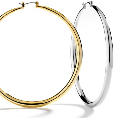 Premium Quality Hollow Round Hoop Earings. 5 Different Sizes.