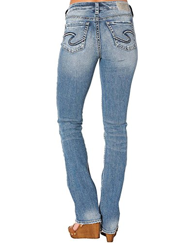 Silver Jeans Co. Womens Avery Curvy Fit High Rise Slim Bootcut Jeans