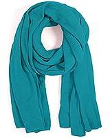 AQUA Brand Women's Solid Caribbean Blue 60 x 24-in Fashion Scarf