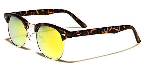 Mirozi Unisex Tortoise Pattern Half-Frame Horn Rimmed Wayfarer Mirror Lens Retro Sunglasses (Black/Brown Tortoise, - Baby Dior Sunglasses