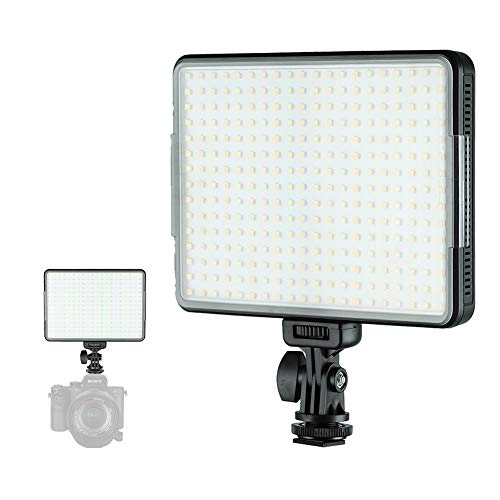 SUPON W300 Ultra Bright Dimmable Camera Panel Light,3300K-5600K Bi-Color LED Video Light Panel for Canon, Nikon, Pentax, Panasonic, Sony, Samsung, Olympus and All DSLR Cmeras(Battery Not Included) by SUPON