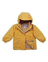 Jan & Jul Kids Water-Proof Fleece-Lined Rain Coat Jacket Hooded
