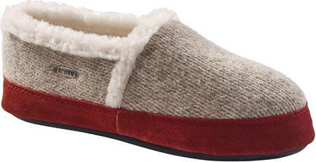 ACORN Women's Moc Slipper, Grey Ragg Wool, X-Large/9.5-10.5 M (Acorn Mocs)