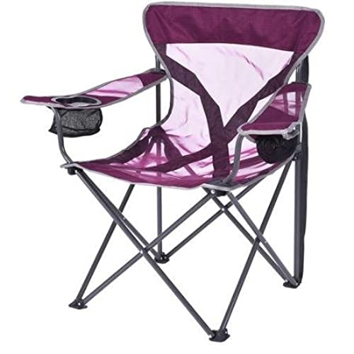 Ozark Trail Deluxe Adult Mesh Chair With Durable Polyester Fabric Purple