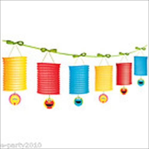 [Amscan Sesame Street 1st Birthday Paper Lantern Garland Party Supplies, 12