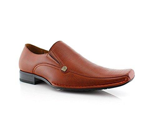Delli Aldo Mens King Dress Shoe Brown 9