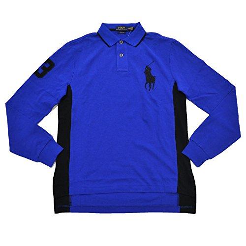 Big Pony Rugby Shirt (Polo Ralph Lauren Mens Long Sleeve Big Pony Shirt (Rugby Royal, Medium))