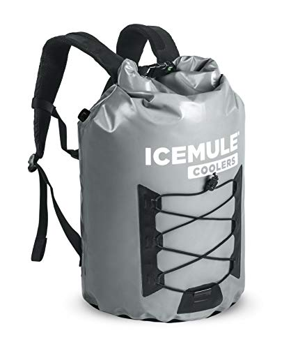 - ICEMULE Pro Insulated Backpack Cooler Bag - Hands-free, Highly-Portable, Collapsible, Waterproof and Soft-Sided Cooler Backpack for Hiking, the Beach, Picnics, Camping, Fishing - 23 Liters, 20 Can