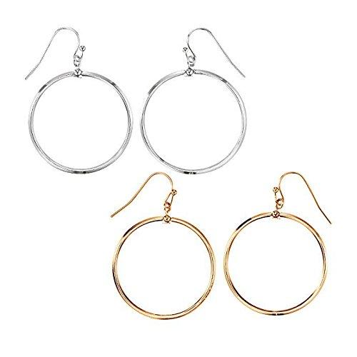 Avon Dangling Earrings - Luna Drop Earrings Goldtone