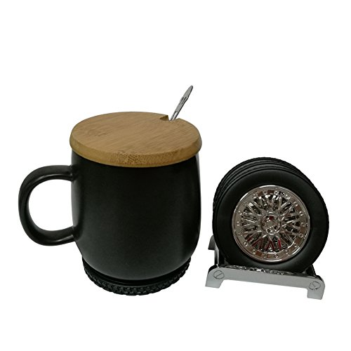 HNYG Tyre Style Cup Coaster Creative Drink Pad