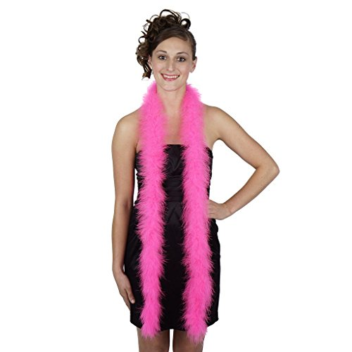 ZUCKER Marabou Feather Boa - Craft Dress Up Party Costume Accessory, 6 feet, Pink Orient]()
