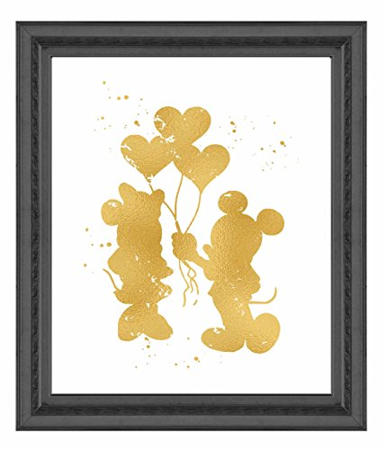 Inspired by Mickey and Minnie Mouse Love and Friendship - Poster Print Photo Quality - Made in USA - Disney Inspired - Home Art Print -Frame not included (8x10, (Mickey Mouse Art)