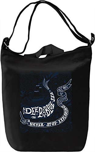 Deep blue sea Borsa Giornaliera Canvas Canvas Day Bag| 100% Premium Cotton Canvas| DTG Printing|