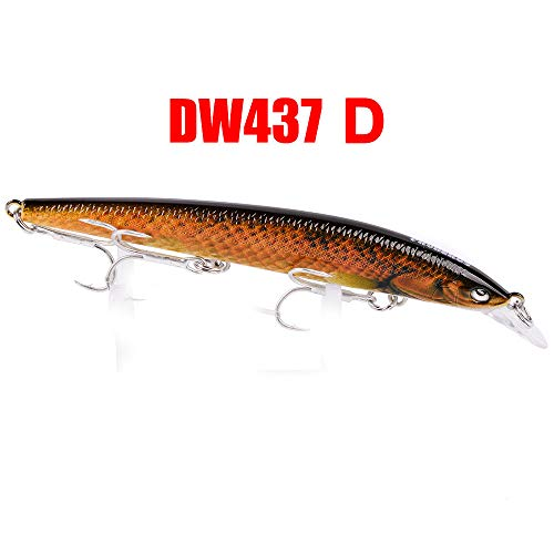 Glumes Fishing Lures Large Hard Bait Minnow VIB Lure with Treble Hook Life-Like Swimbait Fishing Bait 3D Fishing Eyes Popper Crankbait Vibe Sinking Lure for Bass Trout Walleye Redfish