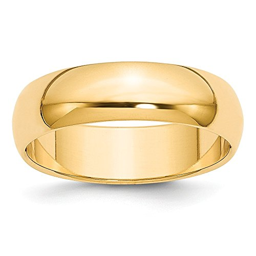 Best Designer Jewelry 14k 6mm Half-Round Wedding Band by Jewelry Brothers Rings