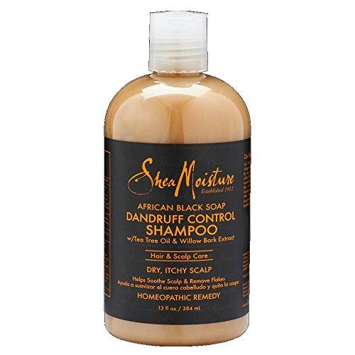 SheaMoisture African Black Soap Dandruff Control Shampoo, 13 Ounce
