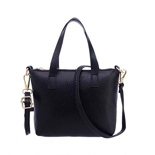 para Niña Grande Mujer ✦JiaMeng y Baratos de Shoppers Lona Bolsos Hombro Bandolera Negro de fRPqaw
