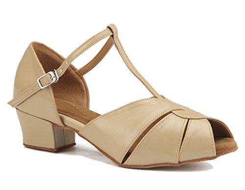 MGM 5cm 3 Beige EU 35 Joymod Jazz Beige Donna Moderno Heel Leather e rxrzw1Uq