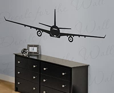 Jet Airplane Wall Decal - Large Vinyl Decoration Sticker Passenger Art Airline Mural Airport Military Decor Graphic Bomber Sign