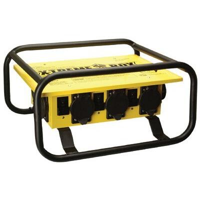 Coleman Cable 01972-3R-02 Temporary Power Distribution Box, 50 Amp 125/250V by Coleman Cable