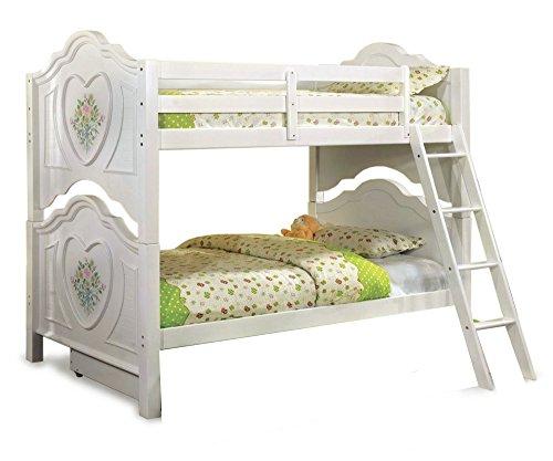 - 247SHOPATHOME IDF-BK119-TR452 bunk-beds, Twin, White