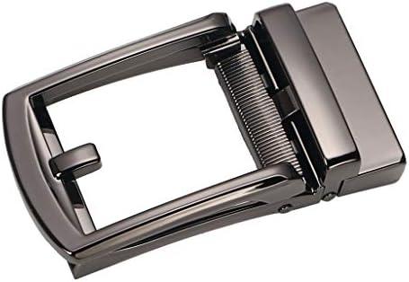 ベルトバックル オートロック メンズ 合金 巾35㎜ 自動ラチェット サイドリリース バックル