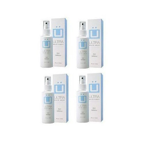 Ultra Hair Away (4 ~ 4 fl.oz. Bottles) Hair Inhibitor - Permanent Hair Remover -