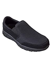 EVER BOOTS Men's Slip Resistant Work Shoe Comfort Slip On Lightweight Flexible