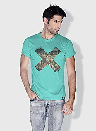 Creo Almaty Mountain X City Love T-Shirts For Men - L, Green
