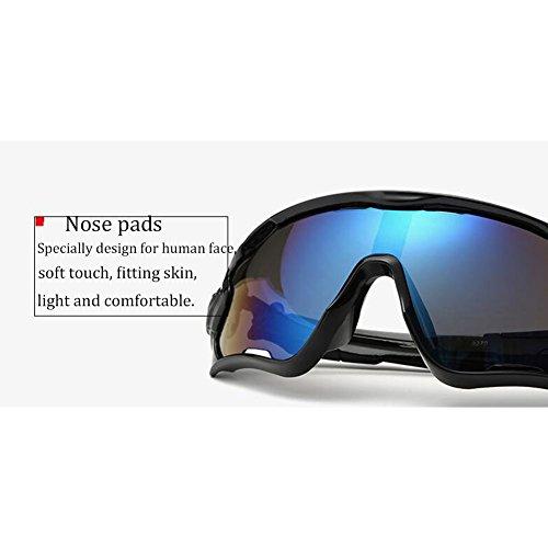 KRY - Lunettes de soleil sportives UV400pour homme, adaptées à la conduite, au golf, à la pêche, monture incassable en métal 5