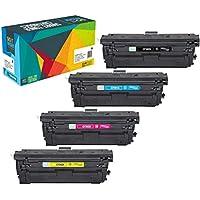 Do it Wiser Compatible Toner Cartridge Replacement for HP 508X 508A CF360A CF360X CF361X CF362X CF363X for use in HP Color Laserjet M553DN M553N M553 M577 M552DN (Black Cyan Magenta Yellow, 4-Pack)