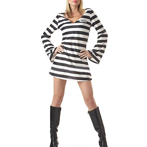Womens Mens Adult Jailbird Costume Or Prisoner Costume Halloween Gifts Men (Female Robber Costume)