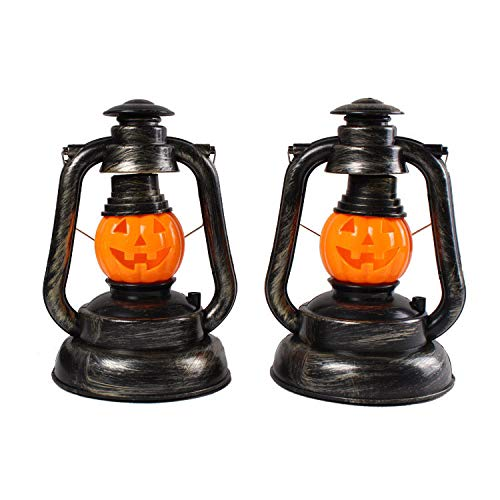 Halloween Hanging Kerosene Light Lamp,Portable Kerosene Lamp for Home Bar Halloween Props Decorations Costume Décor Accessory Horror Ghost Lantern Night Light Kerosene Lamp Halloween Pumpkin Lantern