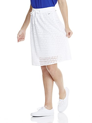 Bench Cotton Crochet Skirt, Falda para Mujer Weiß (BRIGHT WHITE WH11185)