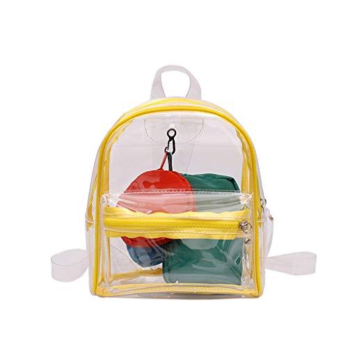 (DDKK bags Hot Women Transparent Clear Backpack 4pc-Waterproof Tote Pouch for Men & Women-Built-In Wallet Handbags)