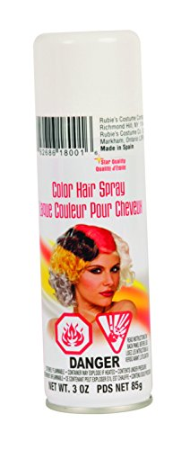 Temporary White Hair Color Spray (Rubie's Color Hairspray,)