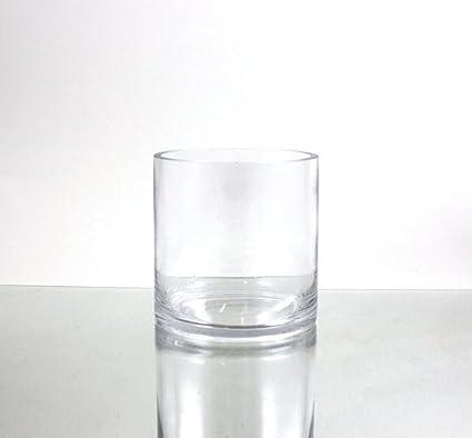 Amazon Wgvi Clear Cylinder Glass Vasecandle Holder 5 X 5h