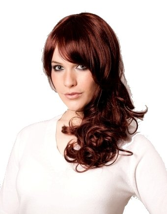 Amazon Com Long Black Dark Brown Curly Wig With Red Lowlights And